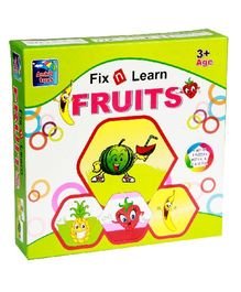 Ankit Toys Fix N Learn Fruits Puzzle Set Pack Of 4 - 36 Pieces