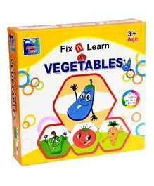 Ankit Toys Fix N Learn Vegetable Puzzle Set Pack Of 4 - 36 Pieces