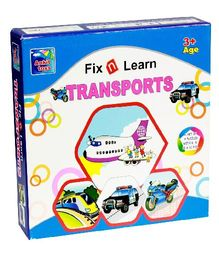 Ankit Toys Fix N Learn Transports Puzzle Set Pack Of 4 - 36 Pieces
