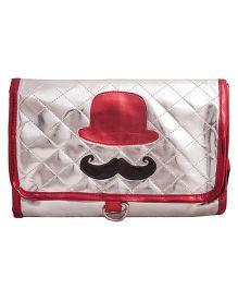Li'll Pumpkins Hat & Moustache Four Fold Pouch - Silver