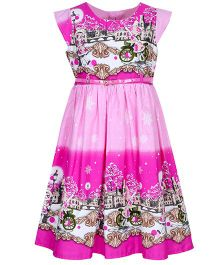 Bella Moda Double Shaded Dress - Pink