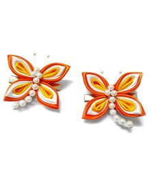 Reyas Accessories Dragonfly Hair Clips - Orange