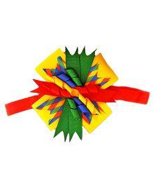 Reyas Accessories Big Bow Headband - Red & Yellow