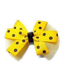 Reyas Accessories Polka Dot Hair Clip - Yellow