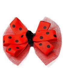 Reyas Accessories Polka Dot Hair Clip - Red