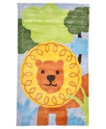 Myrugs King Lion Handmade Carpet - Multicolour