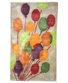 Myrugs Happy Balloons Handmade Carpet - Beige
