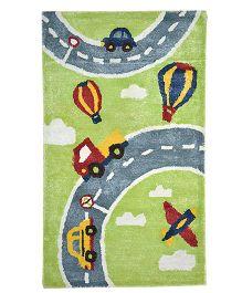 Myrugs Race Track Handmade Carpet - Green