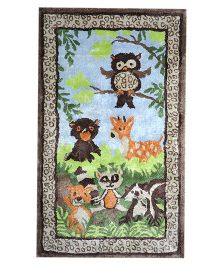 Myrugs Owl Jungle Handmade Carpet - Multicolour