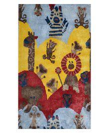 Myrugs Little Monkeys Handmade Carpet - Yellow