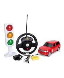 Classic Remote Controlled Car With Charger And Traffic Light - Red