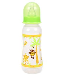 Mee Mee Polypropylene Plastic Premium Feeding Bottle Green & Yellow - 250 ml