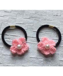 Buttercup From KnittingNani Hair Ties With Pearls - Baby Pink