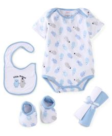 Morisons Baby Dreams Baby Gift Box Pack Of 7 Teddy Print - Blue