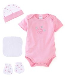 Morisons Baby Dreams Baby Gift Box Pack Of 4 Flower Print - Pink