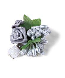 Funkrafts Rose Hair Clip - Grey