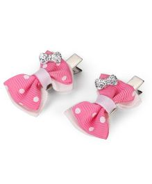 Funkrafts Bow Hair Clips - Pink