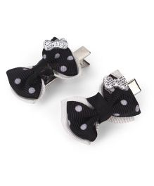 Funkrafts Bow Hair Clips - Black