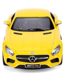 Kinsmart Mercedes AMG GT Pull Back Action Car Model - Yellow