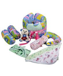 NeedyBee Pack Of 8 Gift Set For Newborns - Pink