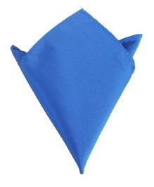 NeedyBee Solid Pocket Square Handkerchief - Blue