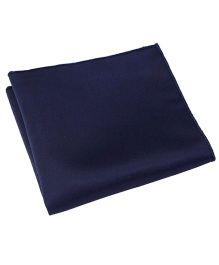 NeedyBee Solid Pocket Square Handkerchief - Dark Blue