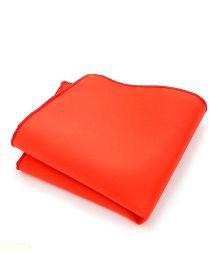 NeedyBee Solid Pocket Square Handkerchief - Orange