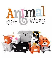 Tipy Tipy Tap Pack of 6 Cute Animals DIY Gift Wrap - Multicolour