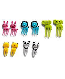 Tipy Tipy Tap Elephant Non Toxic Plastic Forks - Multicolour