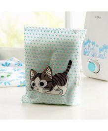 Tipy Tipy Tap Cat Print Utility Bag - Blue