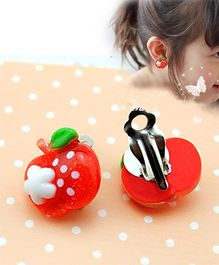 Tipy Tipy Tap Apple Shaped Ear Clips - Red