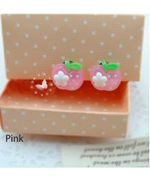 Tipy Tipy Tap Apple Shaped  Ear Clips - Pink