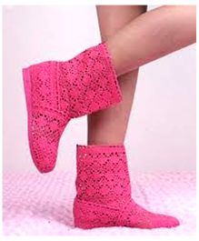 Tipy Tipy Tap Hollow Mesh Kids Boots - Pink