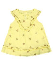 Chicabelle Sleeveless Girl Dress - Yellow