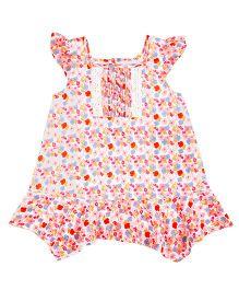 Chicabelle Cap Sleeve Girl Dress - Multicolor