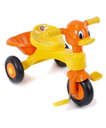 Duck Face Baby Tricycle - Orange & Yellow