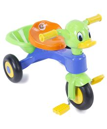 Duck Face Baby Tricycle - Blue & Green