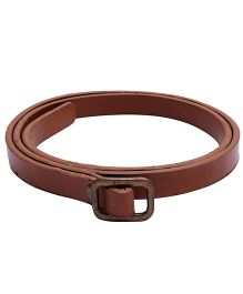 NeedyBee Leather Belt For Baby - Brown