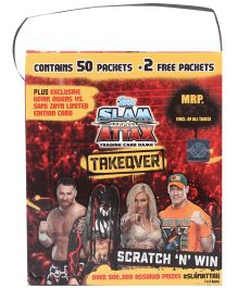 Topps WWE Takeover Carry Box With 50 Packets - Multi Color