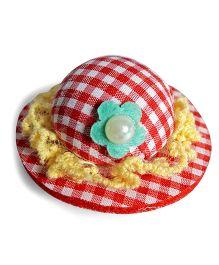 Sugarcart Cute Checks Hat Clip - Red