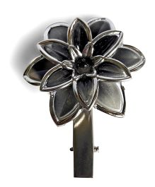 Sugarcart Pearl Finish Flower Clip - Grey