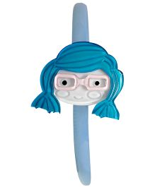 Sugarcart Hairband With Cute Doll Wearing Shades - Blue