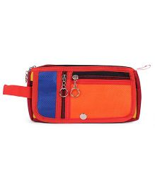 PEP INDIA Trendy Two Patch Pouch - Neon Orange & Blue