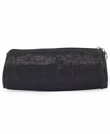 PEP INDIA Trendy Gitter Round Pouch - Black