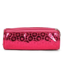 PEP INDIA Trendy Circle Design Round Pouch - Pink