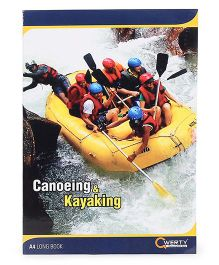 Qwerty A4 Single Line Notebook Kayaking Print - 140 Pages