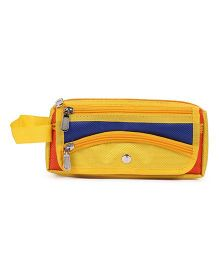 PEP INDIA Trendy Oval Pouch - Neon Yellow & Blue