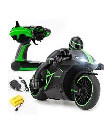 The Flyer's Bay Remote Controlled Motorcycle - Green Black
