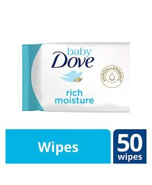 Baby Dove Baby Wipes Rich Moisture - 50 Pieces