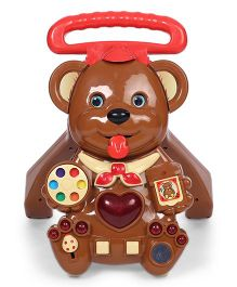 Toyzone Musical Activity Walker Teddy Shape - Brown